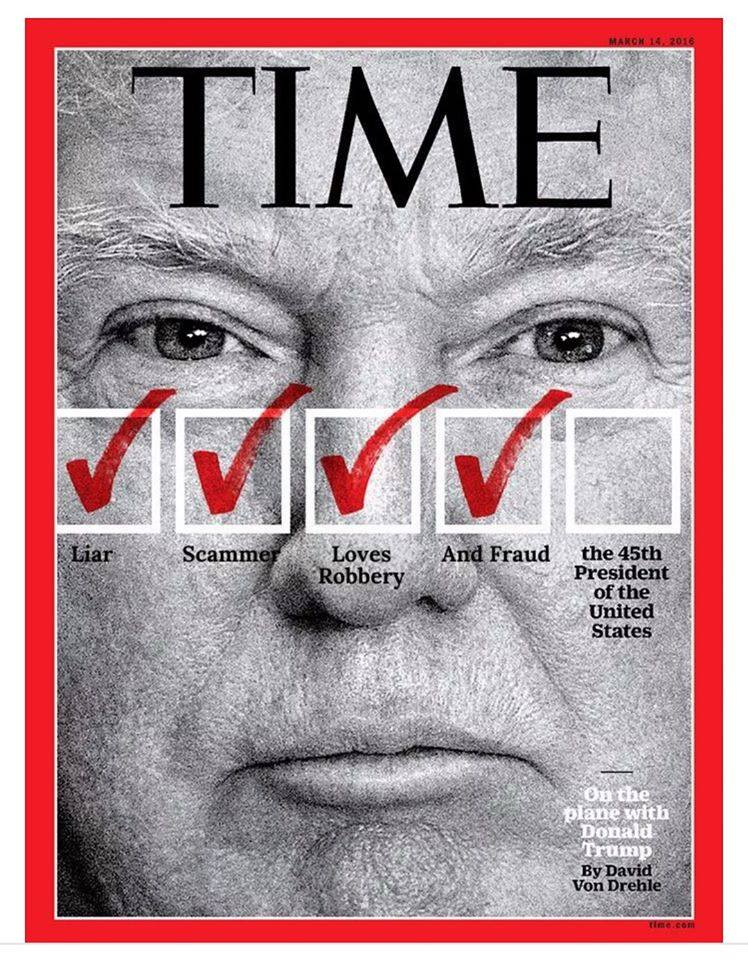Photo Donald Trump Featured On Upcoming Time Magazine